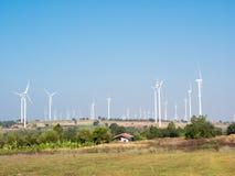 Wind turbine power generator. Farm Royalty Free Stock Photography