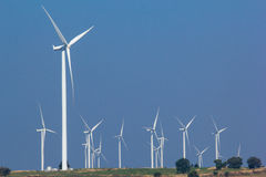 Wind turbine power generator. Farm Royalty Free Stock Photo