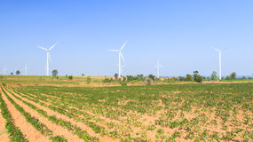 Wind turbine power generator Stock Photo