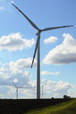 Wind turbine power generator renewable energy production Royalty Free Stock Image
