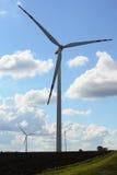 Wind turbine power generator renewable energy production. Protection of nature. Wind turbines eco power generator for renewable energy production. Alternative Royalty Free Stock Image
