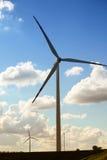 Wind turbine power generator renewable energy production. Protection of nature. Wind turbines eco power generator for renewable energy production. Alternative Stock Photo
