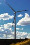 Wind turbine power generator renewable energy production. Protection of nature. Wind turbines eco power generator for renewable energy production. Alternative Stock Image