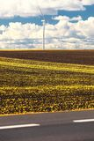 Wind turbine power generator renewable energy production. Protection of nature. Wind turbines eco power generator for renewable energy production. Alternative Stock Images