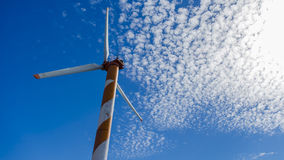 Wind turbine. A wind powered turbine in Israel Royalty Free Stock Photos