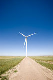 Wind Turbine on the Prairie Stock Image
