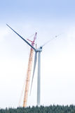 Wind Turbine in the process of being built Stock Images