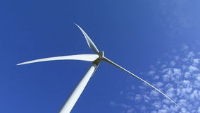 Wind turbine producing Royalty Free Stock Image