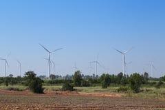 Wind turbine producing alternative energy Royalty Free Stock Photos