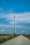 Wind turbine producing clean energy Royalty Free Stock Photo