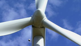 Wind turbine producing Stock Photography