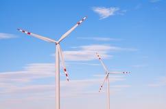 Wind turbine producing clean renewable energy Stock Photos