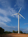 wind turbine producing electric Royalty Free Stock Image