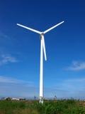 wind turbine producing electric Stock Image