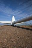 Wind Turbine Propeller. Constructing wind turbines on hills Stock Photo
