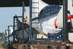 Wind turbine propeller parts  Stock Photo
