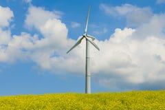 Wind turbine, propeller wind turbine. Stock Photos