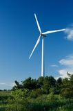 Wind turbine in Quebec Stock Photo