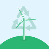Wind Turbine Recycle Symbol Stock Images