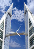 Wind turbine, a renewable energy source. Royalty Free Stock Photography