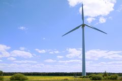 Wind turbine - renewable energy source Stock Image