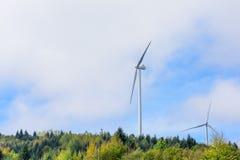 Wind turbine renewable energy source. Stock Photo