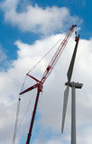 Wind Turbine Repair Royalty Free Stock Image