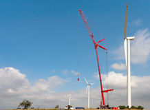 Wind Turbine Repairing Royalty Free Stock Photos