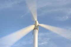 Wind turbine rotation Royalty Free Stock Photo