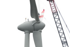 Free Wind Turbine Rotor Royalty Free Stock Photos - 3361548