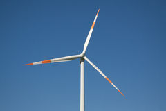 Wind turbine rotor close-up Stock Images