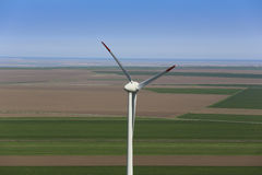 Wind turbine. In a rural farm Royalty Free Stock Photography