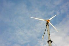 Wind turbine save energy environment Stock Photo