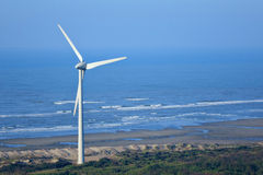 Wind turbine. At the seaside Royalty Free Stock Photos