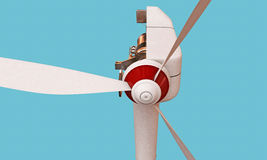 Wind turbine section Royalty Free Stock Images