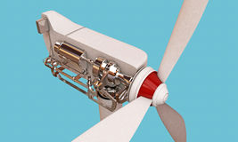 Wind turbine section Stock Photo