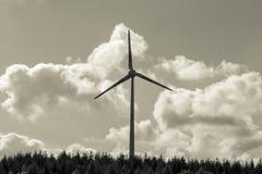 Wind turbine in sepia color Stock Photo