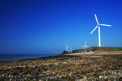 Wind turbine series Royalty Free Stock Photos