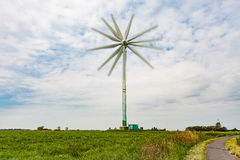 Wind turbine with several rotor blades Royalty Free Stock Photos