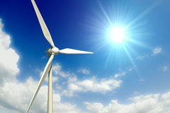 Wind Turbine and Sky Royalty Free Stock Photo