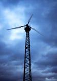 Wind Turbine and Sky. Wind turbine against a cloudy sky stock image