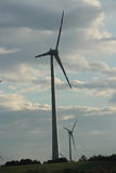 Wind turbine in the sky Royalty Free Stock Photos
