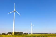 Wind turbine spinning Stock Photo