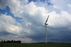 Wind Turbine in a Storm. Stock Photography