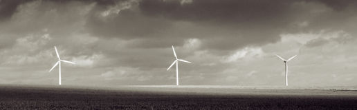 Wind turbine storm weather Stock Photos