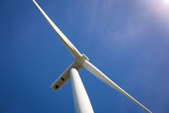 Wind Turbine with Sunlight Royalty Free Stock Photo