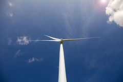Wind Turbine with Sunlight Royalty Free Stock Image