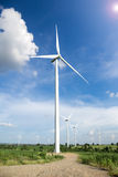 Wind Turbine with Sunlight Royalty Free Stock Photos