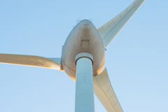 Wind turbine in a sunny sky in summer Royalty Free Stock Photos