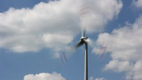Wind turbine. On sunny and windy day stock video